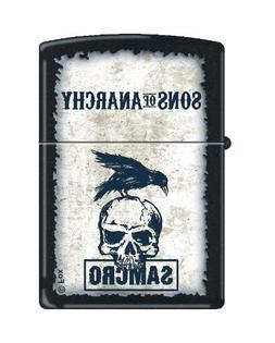 Zippo Sons of Anarchy Skull and Bird Black Matte Pocket Ligh