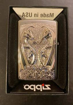 Zippo lighter Twin Dragon With 3D Emblem Absolutely stunning