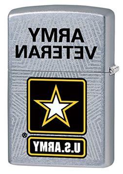 Zippo Lighter: U.S. Army, Army Veteran - Street Chrome 77664