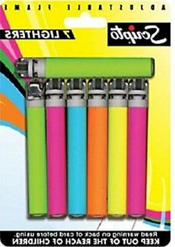 Scripto Lighters, 7 count **NEW**