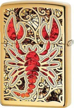 Zippo Lobster, High Polish Brass, Fusion 29096