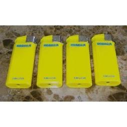 lot of 4 yellow ronson comet refillable