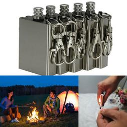 Lot5pcs Survival Emergency Camping Fire Starter Flint Metal