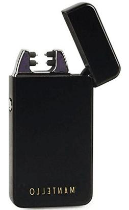 Mantello Coil Lighters USB Rechargeable Windproof Dual Arc L