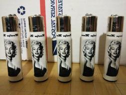 Marilyn Monroe CLIPPER Butane Lighters Refillable - lot of 5
