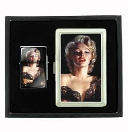 Marilyn Monroe in Lace Cigarette Case and Flip Top Oil Light