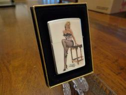 MARILYN MONROE SITTING ON ENDTABLE POLYCARBONATE CHIP ZIPPO