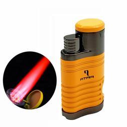 PIPITA Metal 4 Torch Cigar Cigarette Lighter Butane Jet Flam