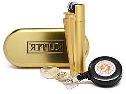 "Clipper Metal Cigarette Lighter""Gold"" Collection With RPD Li"