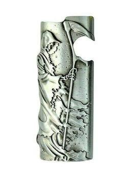 Metal Lighter Case Cover Fits Standard Bic Lighter J6 In Rea