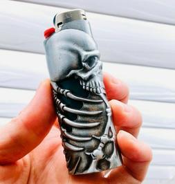 Metal Lighter Case Cover Fits Standard Bic Lighter J6 In Sku