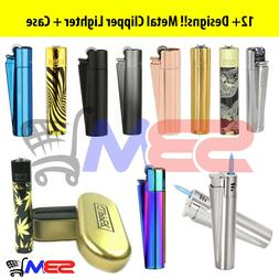 Clipper Metal Lighter Refillable Adjustable Flame FLINT / JE