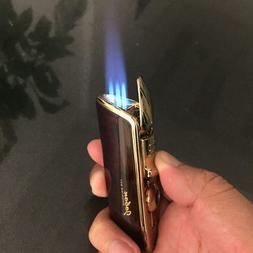 JOBON Metal Triple Torch Jet Butane Cigar Cigarette Power Li