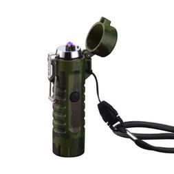 Military Green Electric USB Lighter Plasma Windproof Cigaret
