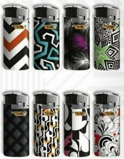 Bic Mini Jr Lighters Black & White - 8 electric lighters wit