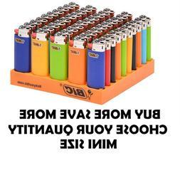 Mini Size BIC Lighter Assorted Multi Color Flint Lighters Mu
