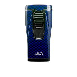 Colibri Monaco Triple Flame Lighter - Blue Carbon Fiber Prin