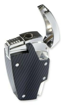Moretti Carbon Fiber Single Torch Cigar Lighter - Refilable