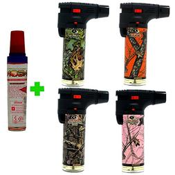Eagle Mossy Oak 4in Torch Lighter Pack of 4 with FREE LAL bu