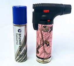 Eagle Mossy Oak Break Up 4in Torch Lighter with FREE LAL but
