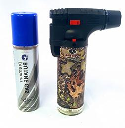 Eagle Mossy Oak Obsession 4in Torch Lighter with FREE LAL Bu