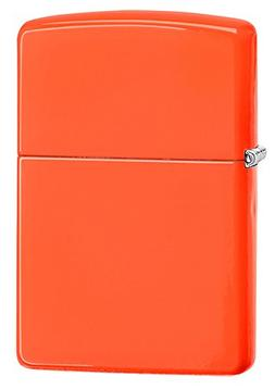 Zippo Neon Orange Pocket Lighter