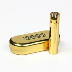 NEW!!! 100% Authentic Clipper Gold Refillable Metal Lighter