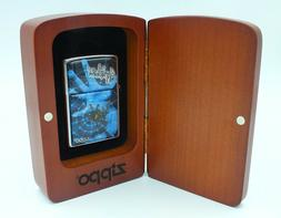 NEW Zippo Art 3D Spider Lighter Special Edition Wood Box USA