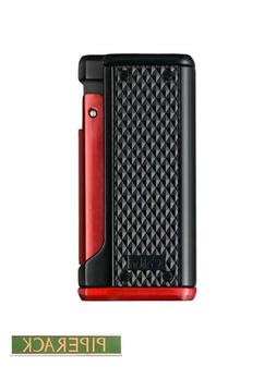 NEW Colibri Monza 3 Black and RED Triple Jet Flame Cigar Lig