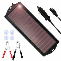 NEW Solar-Powered Car Battery Charger Bundle with Cigarette