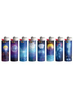 NEW BIC Special Edition Retro Wave Series Lighters - 8 PACK