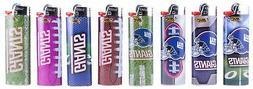 New York Giants Bic Lighters 8pk NFL Officially Licensed 8 B