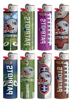 Bic NFL New England Patriots Lighters Set of 8 Collectable D