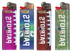 Bic NFL New England Patriots Lighters 4pk Patriot Name Logos