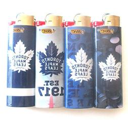 Lot of 4 Bic NHL Toronto Maple Leafs Full Sized Lighters