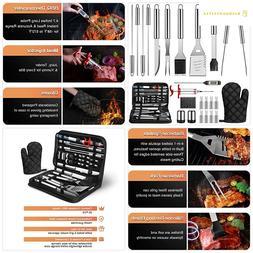 OlarHike 25PCS BBQ Grill Accessories Tools Set, Stainless St