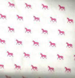 On the Lighter Side pink unicorns Kaufman fabric