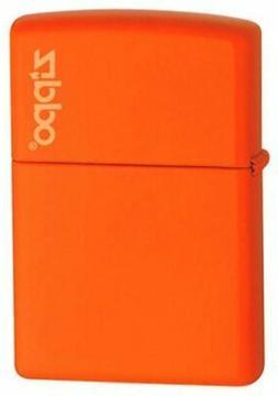 Zippo Orange Matte w/ Logo Lighter #231ZL