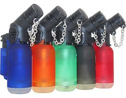 Pack of 6 Single Jet Flame Torch Lighter Windproof Refillabl