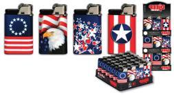 DjEEP Paris - 2 Lighters - Long Last - USA Flag Eagle Adjust