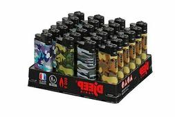 DjEEP Paris - 10 Lighters - Long Lasting - Camouflage Adjust
