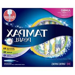 Tampax Pearl Plastic Tampons, Multipack, Light/Regular/Super