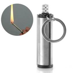 Permanent Matches Metal Box Round Square Lighter Cigarette N