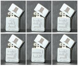 Personalised Engraved Metal Lighters Male Wedding Favour Tha