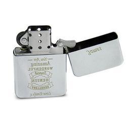 Personalised Silver Cigarette Lighter Gift Idea for Men Smok
