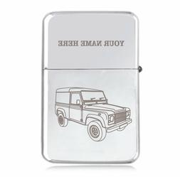 Personalised STAR Windproof Lighter – Engraved with LR Def