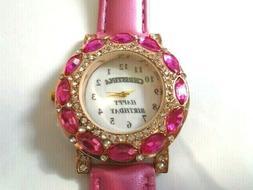 Personalised Wording Photo Ladies Wristwatch Crystal Rhinest