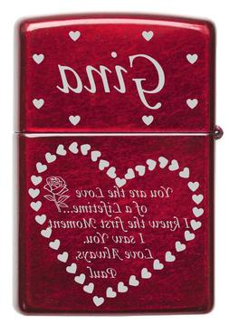 Personalized Laser Engraved Love of a Lifetime Quote ZIPPO L