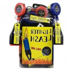 Lighter Leash Plastic - 10 CLIPS - Retractable Premium Red B