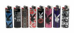 BIC Playboy - 2 Lighters - Long Last - Mix N Match Purple Pi